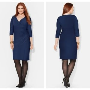 Ralph Lauren 3/4 Sleeve Deep Sapphire Dress NWT